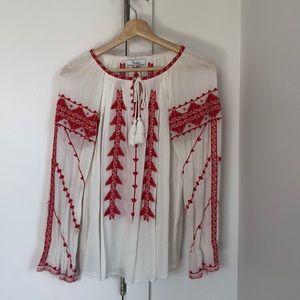 Parker Embroidered Light Weight Shirt, XS